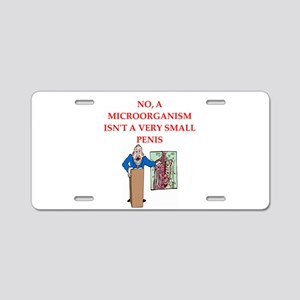 med school joke Aluminum License Plate