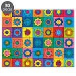 Rainbow Flower Pattern Puzzle