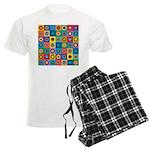 Rainbow Flower Pattern Men's Light Pajamas