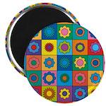 Rainbow Flower Pattern Magnet