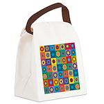 Rainbow Flower Pattern Canvas Lunch Bag