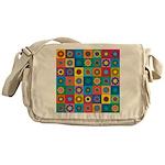 Rainbow Flower Pattern Messenger Bag