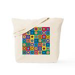 Rainbow Flower Pattern Tote Bag