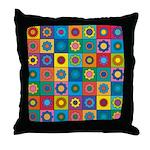 Rainbow Flower Pattern Throw Pillow