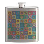 Rainbow Flower Pattern Flask