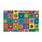Rainbow Flower Pattern 35x21 Wall Decal
