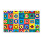 Rainbow Flower Pattern 20x12 Wall Decal