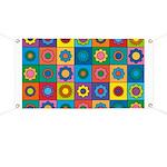 Rainbow Flower Pattern Banner