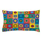 Rainbow Flower Pattern Pillow Case