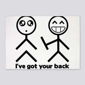 Ive got your back 5'x7'Area Rug