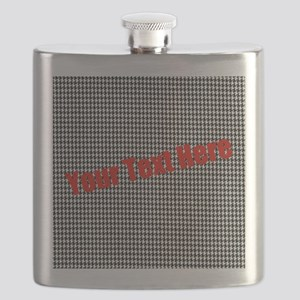 Custom Houndstooth Flask
