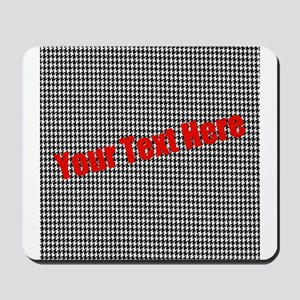 Custom Houndstooth Mousepad