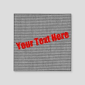 "Custom Houndstooth Square Sticker 3"" x 3"""