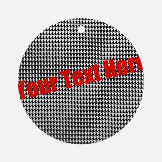 Custom Houndstooth Ornament (Round)