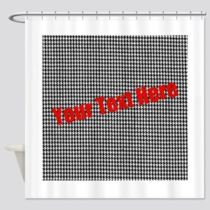 Custom Houndstooth Shower Curtain