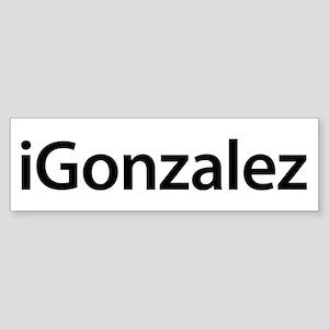 iGonzalez Bumper Sticker