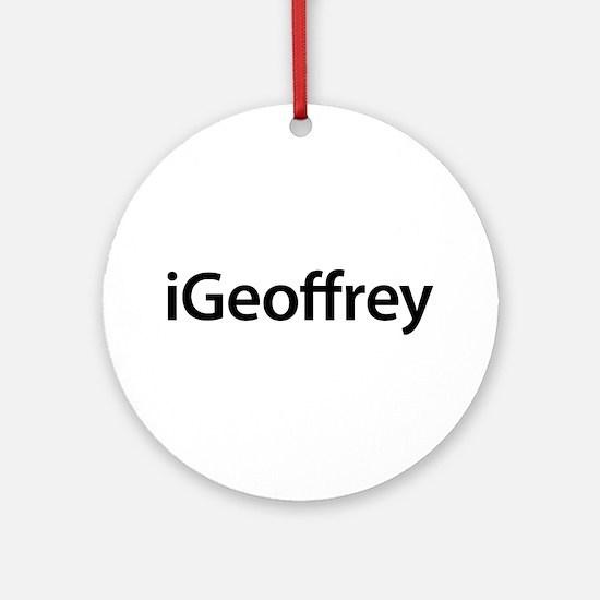 iGeoffrey Round Ornament