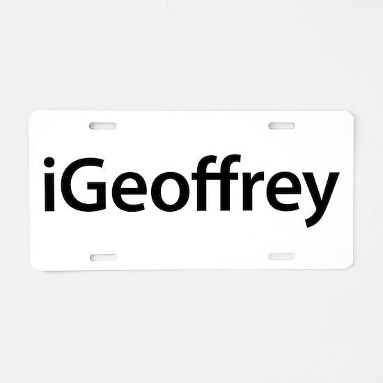 iGeoffrey Aluminum License Plate