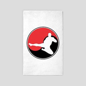Martial Arts Yin Yang 3'x5' Area Rug