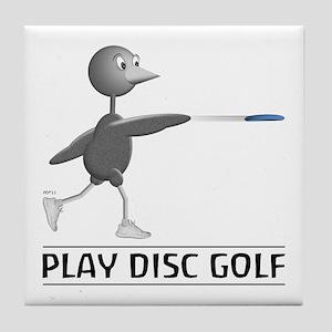 Play Disc Golf Tile Coaster
