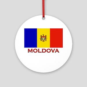 Moldova Flag Merchandise Ornament (Round)