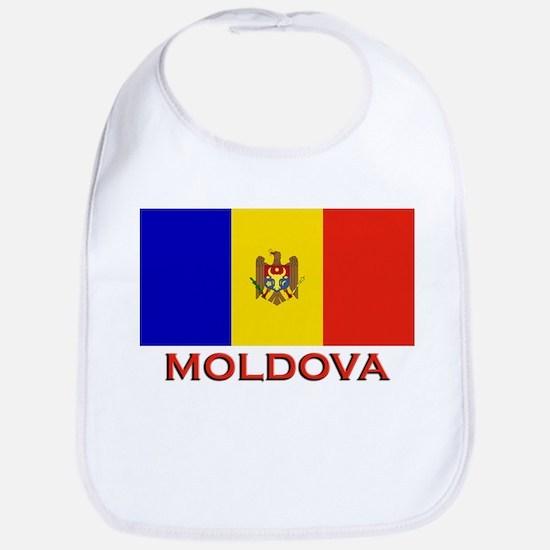 Moldova Flag Merchandise Bib