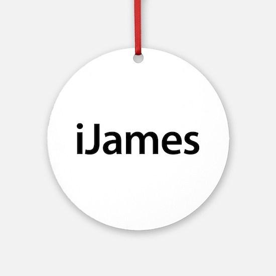 iJames Round Ornament