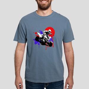 Red Splatter ATV Mens Comfort Colors Shirt