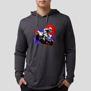 Red Splatter ATV Mens Hooded Shirt