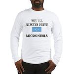 Flag of Micronesia Long Sleeve T-Shirt