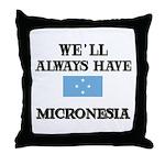 Flag of Micronesia Throw Pillow
