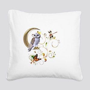 Owl Fantasy Square Canvas Pillow