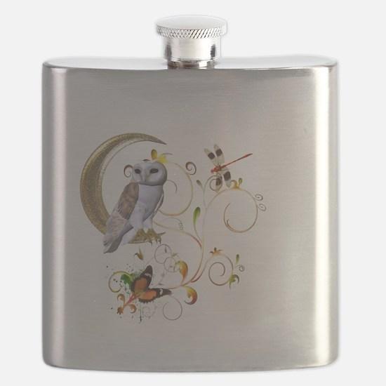 Owl Fantasy Flask