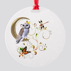 Owl Fantasy Round Ornament