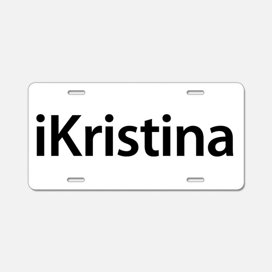 iKristina Aluminum License Plate