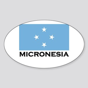 Micronesia Flag Merchandise Oval Sticker