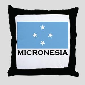 Micronesia Flag Merchandise Throw Pillow
