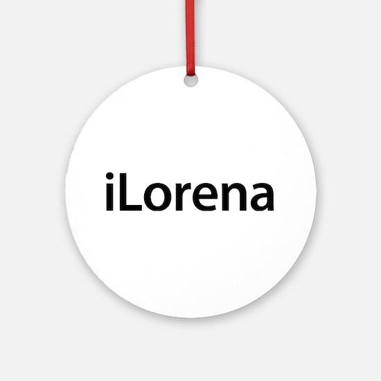 iLorena Round Ornament