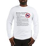 Long Sleeve Bush/Resume T-Shirt