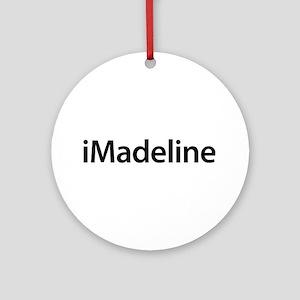 iMadeline Round Ornament
