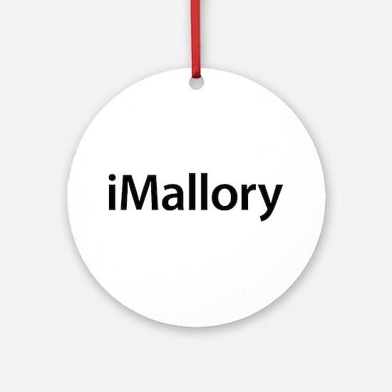 iMallory Round Ornament