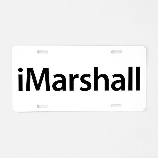 iMarshall Aluminum License Plate