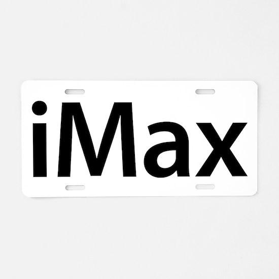 iMax Aluminum License Plate