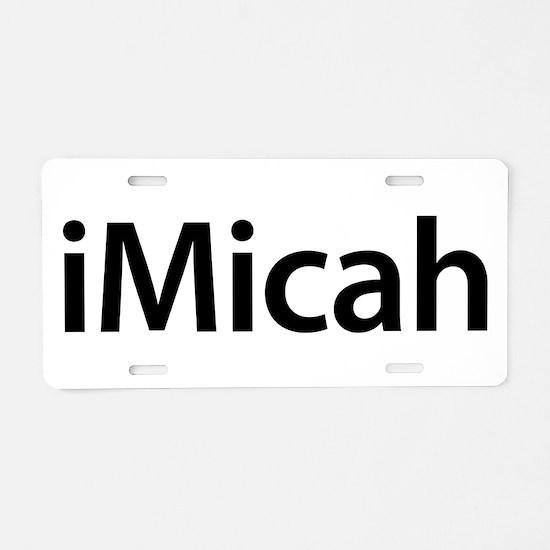 iMicah Aluminum License Plate