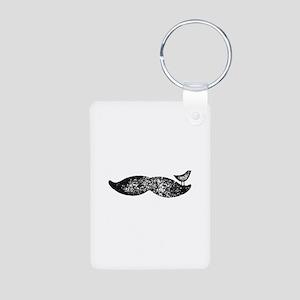 Mustache Bird Aluminum Photo Keychain