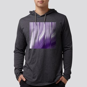 abstract purple grey Mens Hooded Shirt