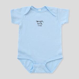 Laughtees Laugh Love Live Infant Bodysuit