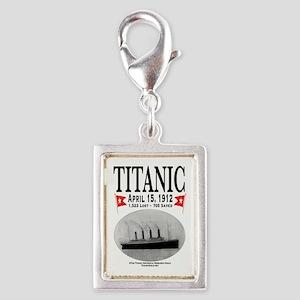 Titanic Ghost Ship (white) Silver Portrait Charm