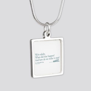 We're Adults - Grey's Anatomy Silver Square Neckla