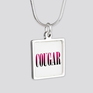 Cougar Silver Square Necklace